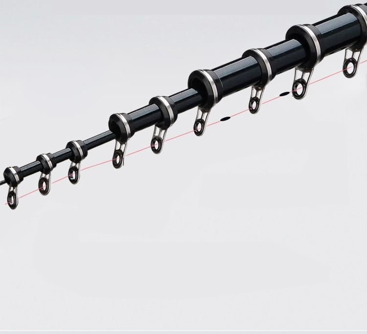 3.6 メートル 4.5 メートル 5.4 メートル 6.3 メートルの高炭素繊維ロッキー伸縮釣竿紡績ポールフィーダー鯉ロッド A132  グループ上の スポーツ & エンターテイメント からの 釣り竿 の中 3