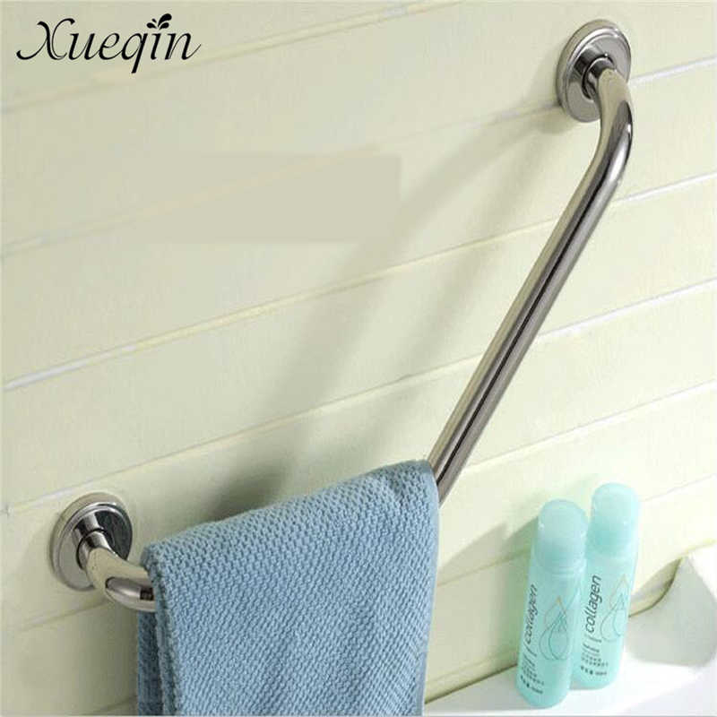 Xueqin Wall Mount Stainless Steel Bathroom Bathtub Arm Safety Handle Grip Bath Shower Tub Grab Bar Anti Slip Handle Grap Bar