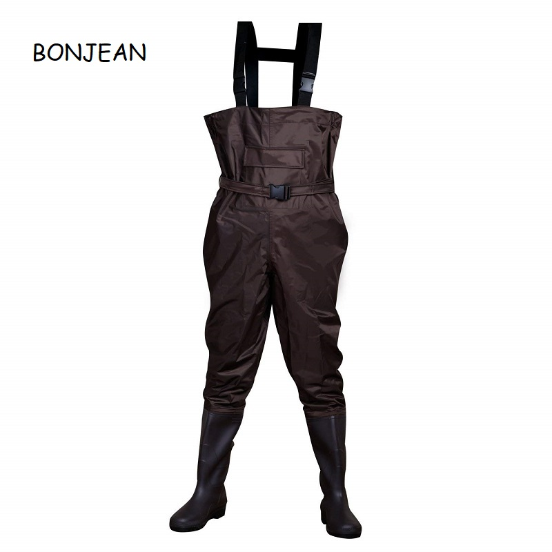 Nylon Chest Waders For Man  Hip Waders Orange 100% Waterproof  PVC Fishing Clothing