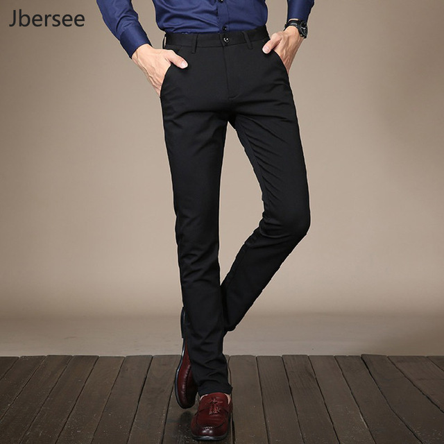a1239ad635d High Quality Fashion Mens Suit Pants Classical Trousers Men Perfume Slim  Fit Business Office Formal Wedding Party Dress Pants