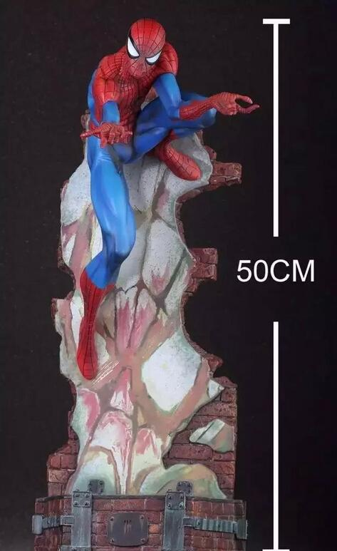 17.7'' anime Crazy Toys Spiderman The Amazing Spider man Superhero PVC Action Figure Collectible Model Toy 2 Styles 091 free shipping the avengers the amazing spider man movie spiderman will light 17cm pvc action figure toys new christmas gifts