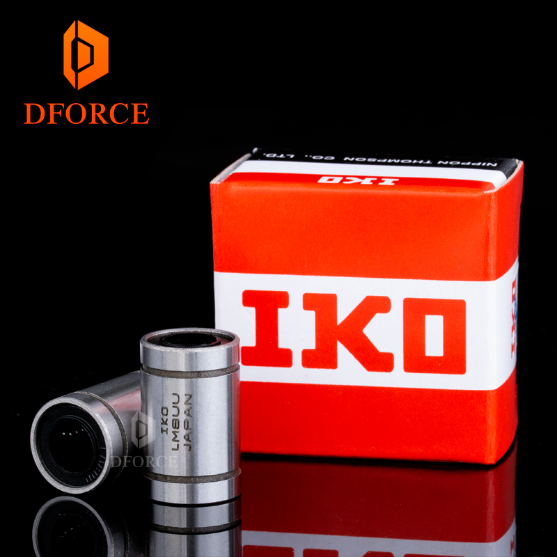 DFORCE genuine IKO LM8UU Long Rod Shaft 8X15X24MM  3d printer linear bearing  For Reprap Anet A8  Prusa I3 3d Printer