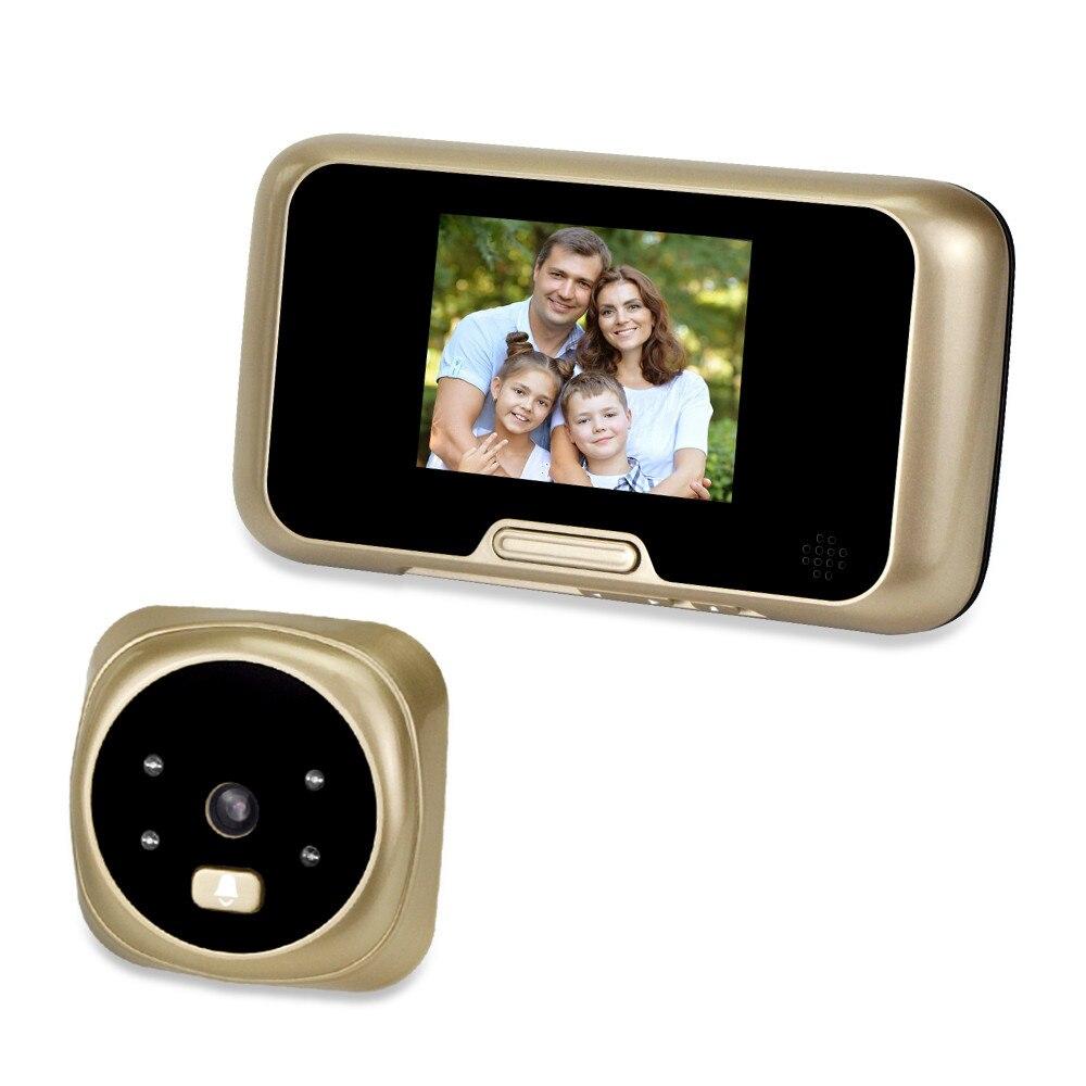 3.0 ''écran couleur électronique numérique judas porte visionneuse sans fil sonnette caméra IR Vision nocturne enregistrement oeil de chat 135 degrés