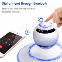 LNBEI New Wireless Bluetooth Magnetic Levitation Speaker Portable Maglev Floating Stereo Magnetic Suspension Bluetooth Speakers