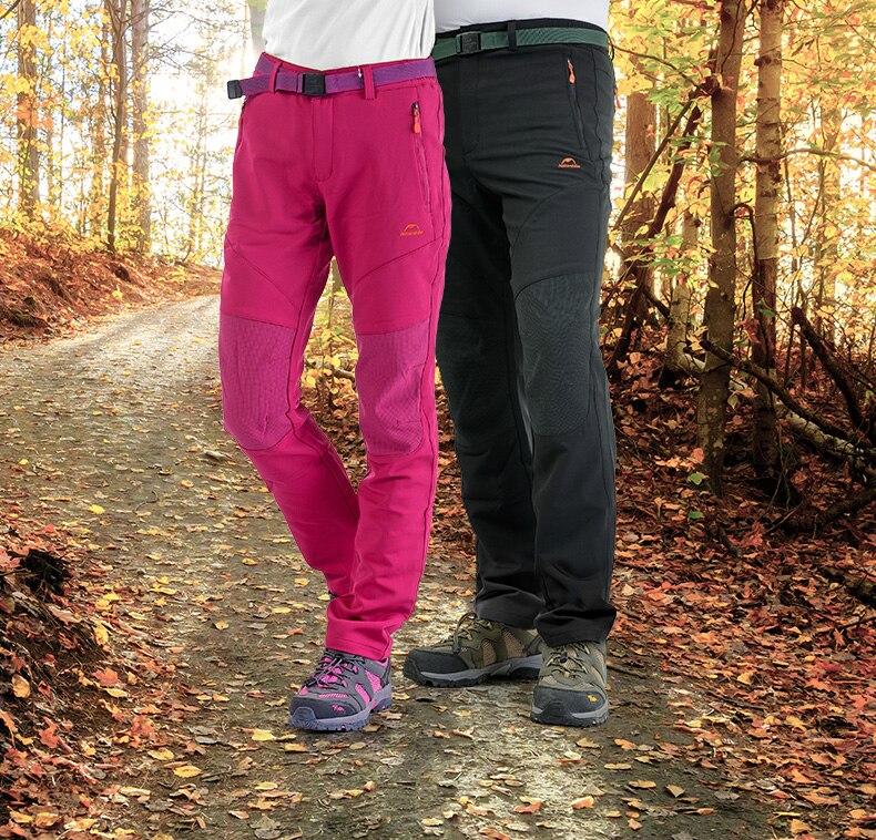 2015 New  Waterproof Women Men Warm Fleece Windbreaker Pants Outdoor Ski Wearable Knee  Free Shipping