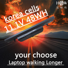 HSW   11.1V 48wh laptop battery for Clevo WA50BAT-6 3ICR18/65-2 6-87-WA5RS-424 bateria akku 4800mah laptop battery for clevo schenker w740s s413 w740su 3icp7 34 95 2 6 87 w740s 42e w740bat 6 x411 970m 67h1