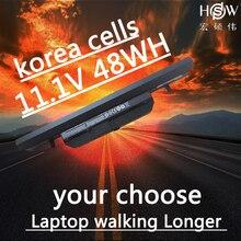 HSW   11.1V 48wh laptop battery for Clevo WA50BAT-6 3ICR18/65-2 6-87-WA5RS-424 bateria akku цены