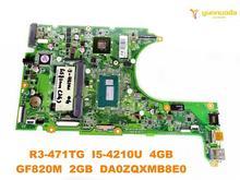 Original for ACER R3-471TG laptop motherboard R3-471TG I5-4210U 4GB GF820M 2GB DA0ZQXMB8E0 tested good free shipping