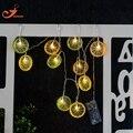 Цвет струнные светильники холодный фруктовый летом свет iced lemon чай главная сад фонари на батарейках партии 3 В AA закрытый огни