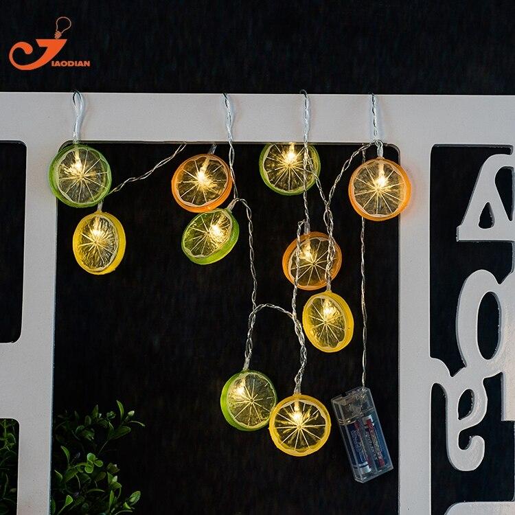 Color lemon string lights cold fruit summer led light iced tea home garden lights battery powered party 3V AA indoor lights