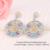 Multicolor Cubic Zirconia Marquise Forma Elegante Brincos Longa Queda Para As Mulheres Brincos Moda Jóias de Luxo brinco WE208