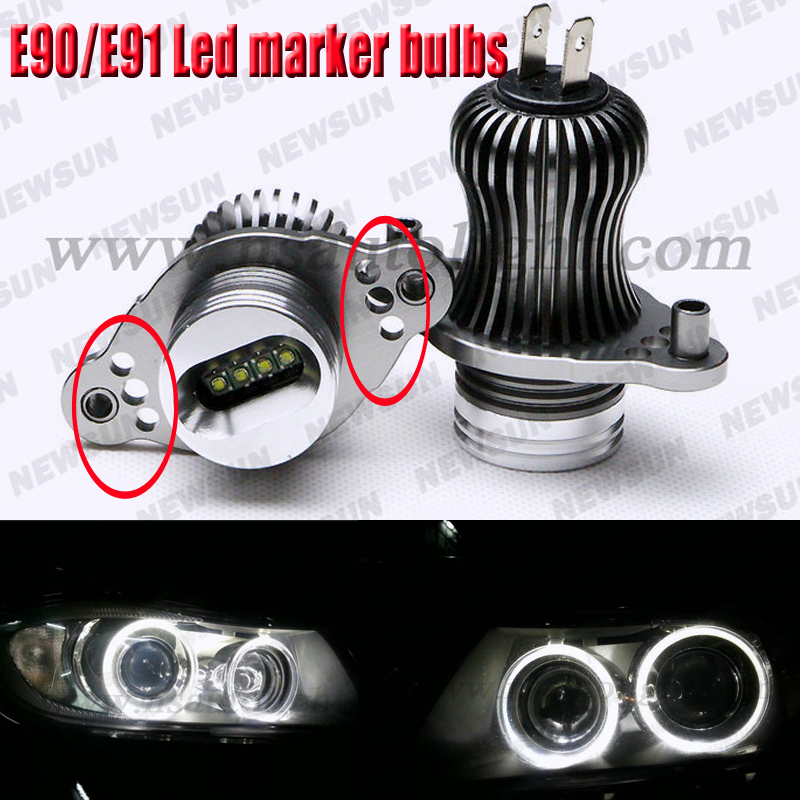 Canbus E90 E91 40W/2*20W Cree chips Led marker bulbs Car Led Angel eyes light bulbs for BMW headlight error free