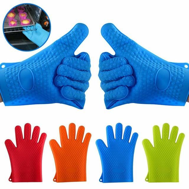 New Silicone Oven Kitchen Gloves