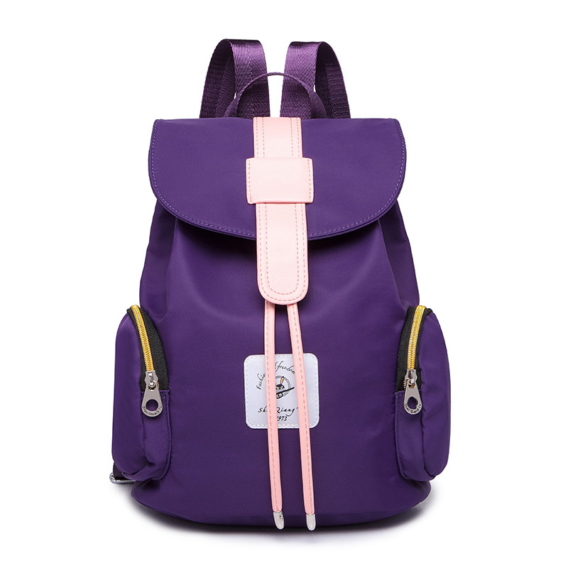 New fashion shoulder bagKorea autumn and summer waterproof nylon backpack leisure personality Korean female bagCouple schoolbags