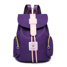 New fashion shoulder bagKorea autumn and summer waterproof nylon backpack leisure personality Korean female bagCouple schoolbags