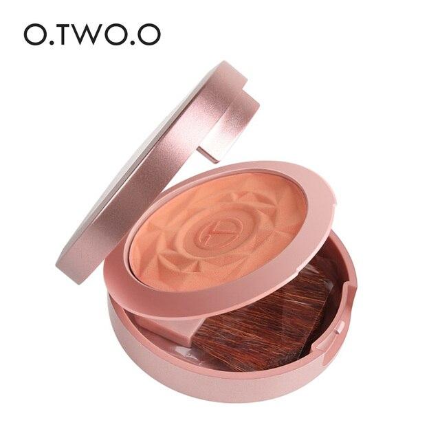 O.TWO.O Face Blusher Powder Palette Makeup Cheek Blusher Powder Minerals Palettes Blusher Brush Palette Cream Natural Blush 4