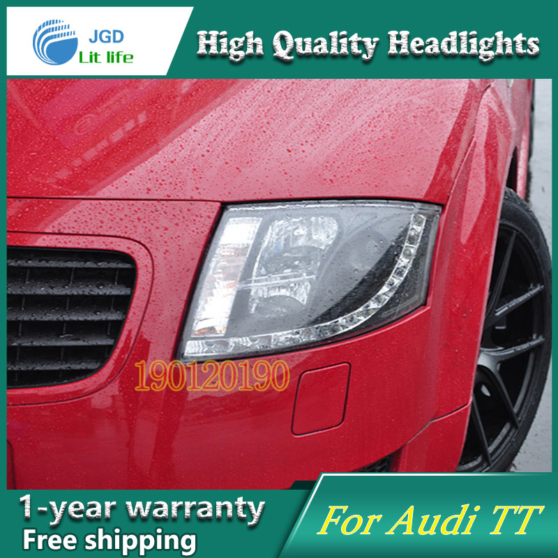 JGD Brand New Styling for Audi TT LED Headlight 1999-2005 Headlight Bi-Xenon Head Lamp LED DRL Car Lights