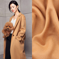 PanlongHome Thick Double Sided Cashmere Woolen Fabric Solid Color 98 High Wool Fabric Windbreaker Coat Handmade