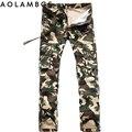 Camo Pantalones Cargo de Los Hombres de Moda Casual Pantalones Rectos Macho TacticalTrousers Joggers Pantalón de Camuflaje Al Aire Libre Más El Tamaño 28-40