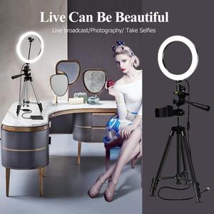 Image 3 - Ring Fill Light Dimmable LED Studio Camera Video Light Annular Lamp with Tripod Phone Clip for Smartphone Selfie Live Show