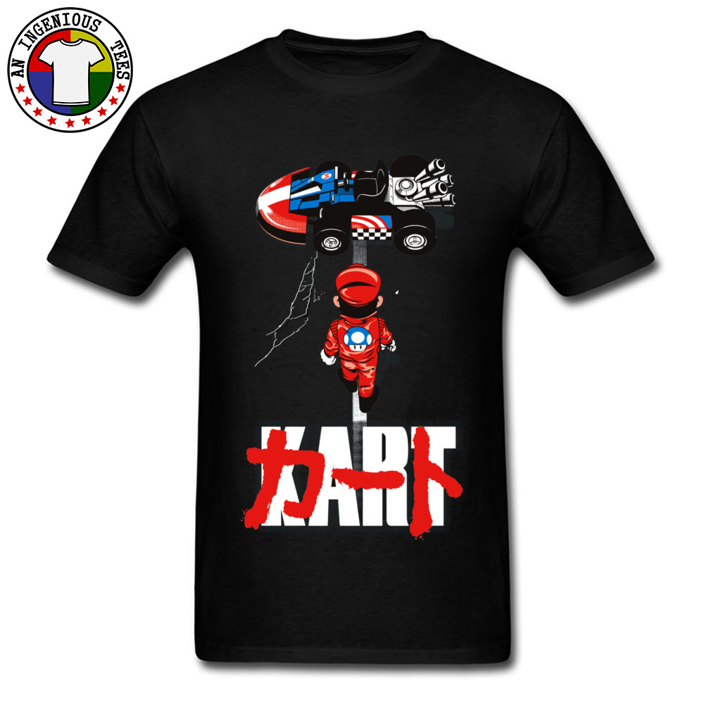 Super Mario Racer Car <font><b>V8</b></font> Funny <font><b>Tshirts</b></font> Interesting Cartoon MARIO Drift New T Shirt Fashion Awesome Great Tees For Men Mother Day image