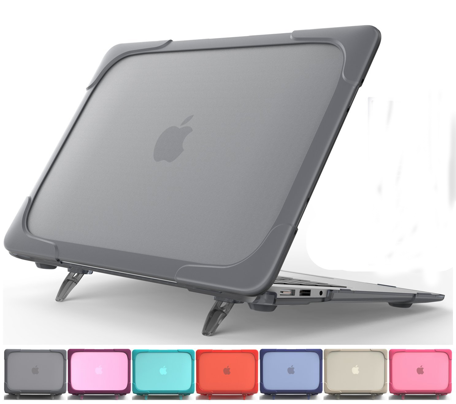 Shockproof Hard Plastic Case for Macbook Air 13, Protective Shell Case for with Foldable Stand for Mackbook Air 11 13 12 Case