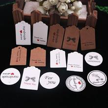 100pcs Kraft Paper Lovely Gift Tags DIY Handmade Price Tags Bags Baking Packing Labels for Flower Cosmetics Jewelry bottle Drink(China)