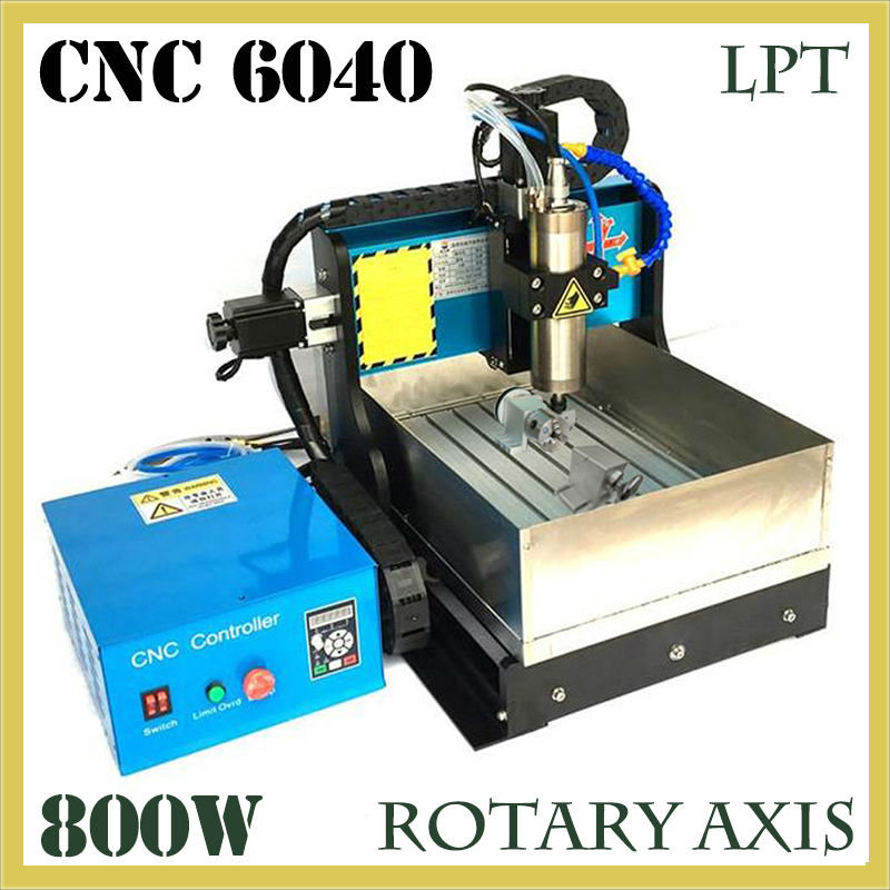 JFT High Quality CNC Wood Router with Water Tank 4 Axis 800W Water Cooling Woodworking Machine with Parallel Port 6040 купить