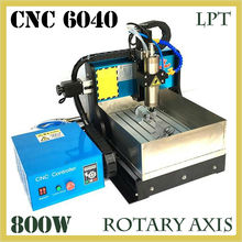 JFT High Quality CNC Wood Router with Water Tank 4 Axis 800W Water Cooling Woodworking Machine with Parallel Port 6040