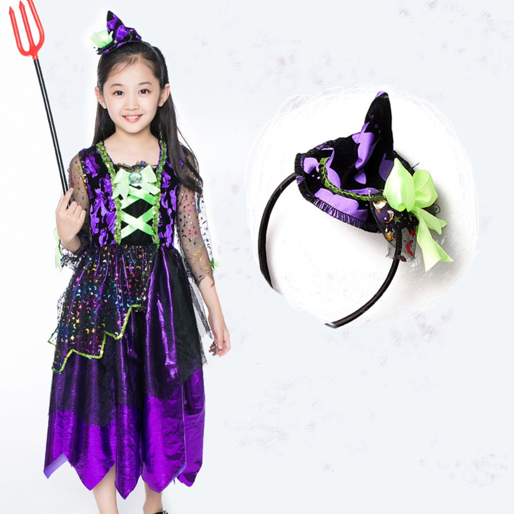 Girls Kids Classic Witch Costume Halloween Child Witchy Fancy Dress Fairytale Princess Outfit tuan l witchy tarot 78 карт