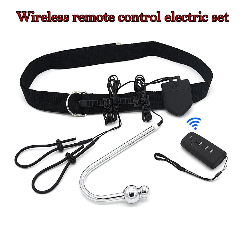 Electro Sex Electro Shock Anal Plug Wireless Remote Control Anal Hook Electro Penis Stimulation Penis Ring Butt Plug For Man hot electric shock medical themed toys kit penis rings massage pad anal butt vagina plug electro shock sex toys for men couples