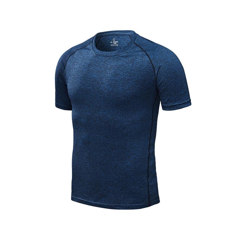 Dark blue - Men's running T-shirt