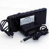 VariCore 12 v 9 8Ah 9800mAh 18650 Rechargeable Battery 12V Protection Board  CCTV Monitor battery DC 5 5*2 1mm+12 6V 1A Charger