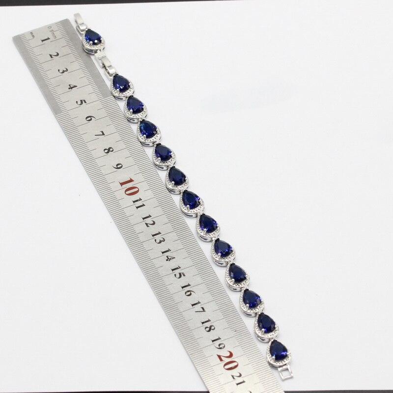 925 Conjuntos de joyas de color plateado para mujeres Gota de agua - Bisutería - foto 5