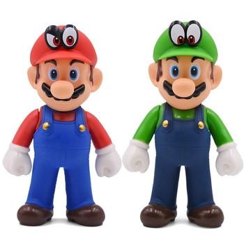 цена 13cm Super Mario Figures Toys Super Mario Bros Bowser Luigi Koopa Yoshi Mario Maker Odyssey PVC Action Figure Model Dolls Toy онлайн в 2017 году