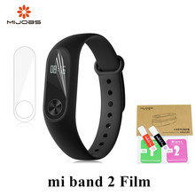 Mijobs 2pcs/pack for Xiaomi Mi Band 2 Strap Screen Protector Miband2 band HD Ultra Thin Anti-scratch Protective Film