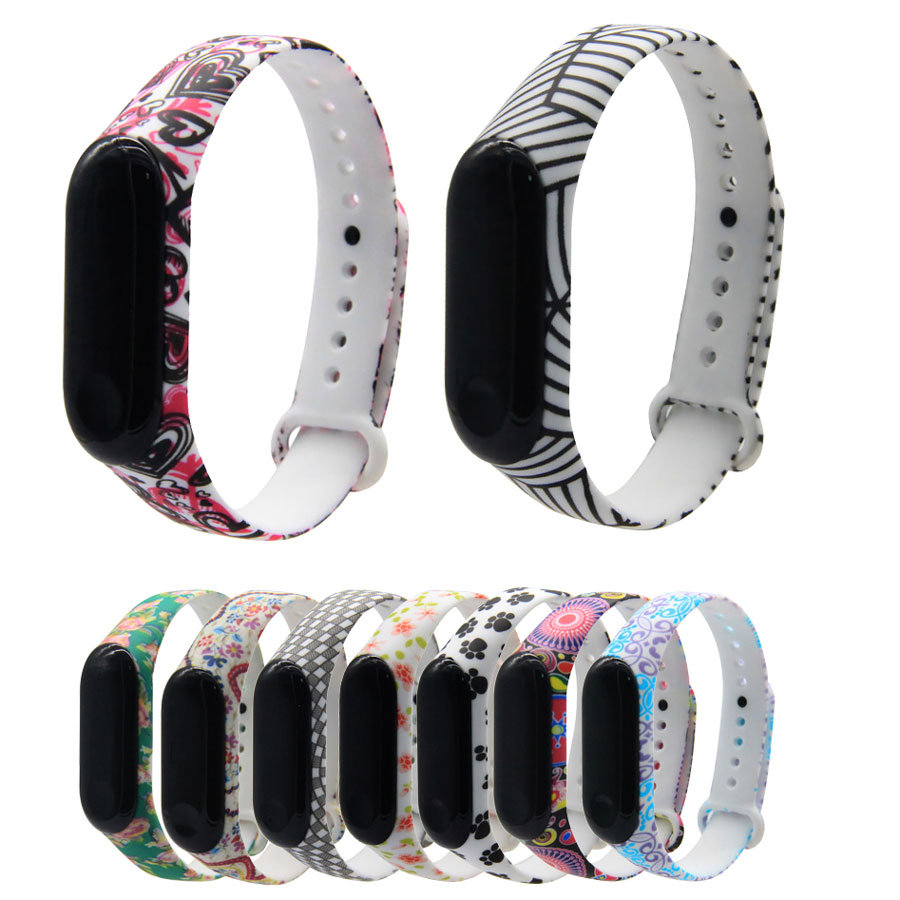 For Miband 3/4 Strap For Mi Band 3 4 Accessories Replacement Silicone Varied Wrist Strap For Xiaomi Mi 3 4 Smart Bracelets