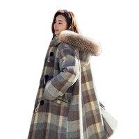 100kg Can Wear Winter Large Size Jacket 2020 Fashion Women Long Woolen Coats Female Hooded Wool Jacket Coat Women Warm Wool Coat