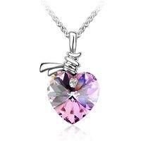 Crystal From Swarovski Necklace Heart Pendants Brand Jewelry Women High Quality Bijouterie Trendy Gift 217
