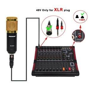 Image 5 - MINI8 P 8 ערוצים כוח ערבוב קונסולה עם מגבר Bluetooth להקליט 99 DSP אפקט מקצועי USB אודיו מיקסר