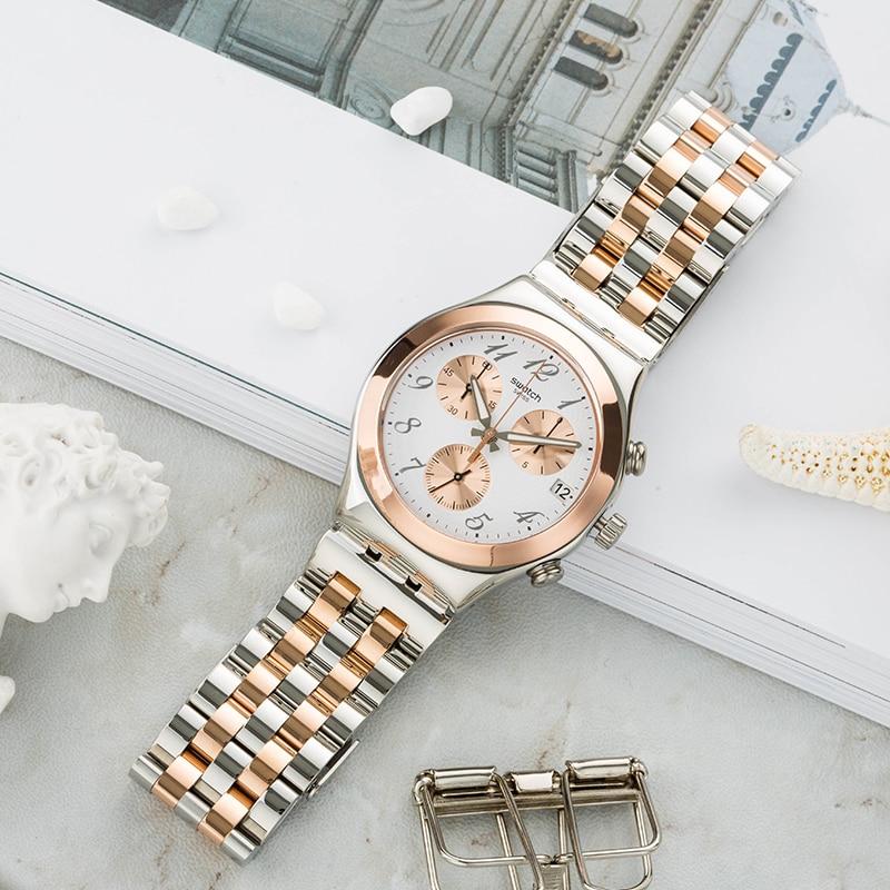 Swatch Watch Women's Watch beautiful Chrono Series Luxury brand Quartz Watch YCS595G цена и фото