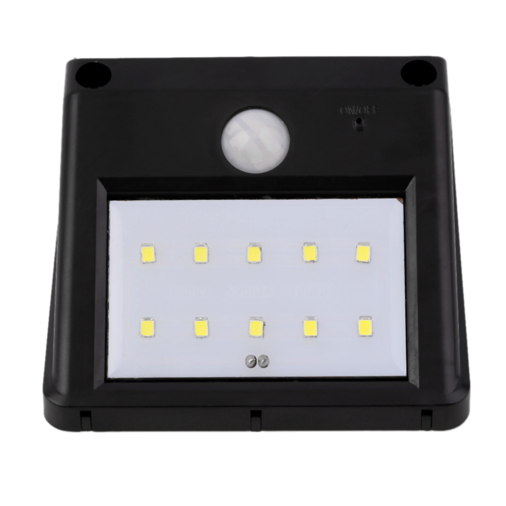 Outdoor Wall Light Bright: Super Bright 10 LED Solar Power Motion Sensor Wall Light