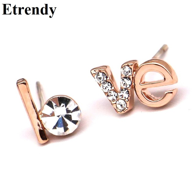 stud initial women gifts xo best earrings brinco cross jewelry letter black girl for punk minimalist set circle metal item earring fashion silver