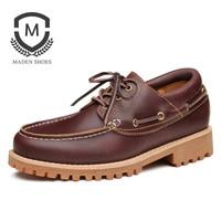 Mr A Men Shoes Leather Fur Vintage Genuine Leather 2017 Europe United States Popular Fashion Leisure
