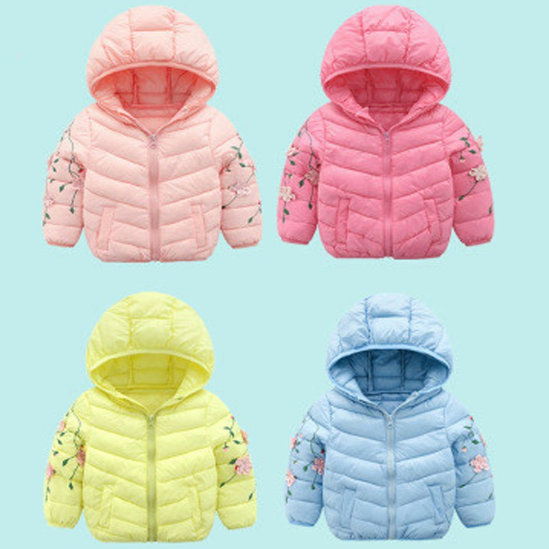 Jacket Light Down-Coat Girls Winter Boys Kids Children's New Thin Autumn And Solid Cotton