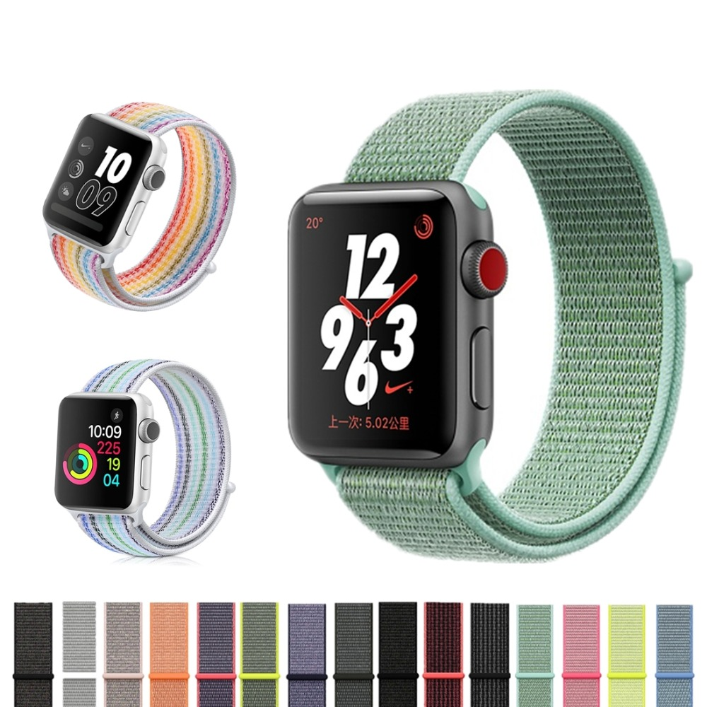 LNOP Lightweight Breathable sport loop band for apple watch 42mm 38mm for iwatch 3/2/1 w ...
