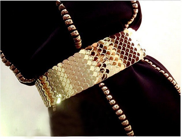 (37 pieces/lot) fashion woman gold metal plated belt 1