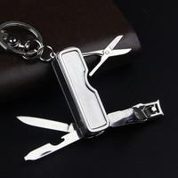 High Quality Creative Design Luxury Keychain For Women Man Nail Clippers Car Key Chain Metal Key