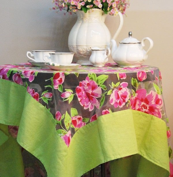 Free shipping! Enjoying afternoon garden tablecloth, 1.8m table cloth size
