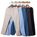 Men's Flax Linen Cotton Canada Beach Pants Outwear Casual Elastic Waist Brand Trousers Loosen Jogger Beige Joggers Men Women XXL